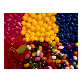 Colorful Brightly-colored mixed candy Postcard