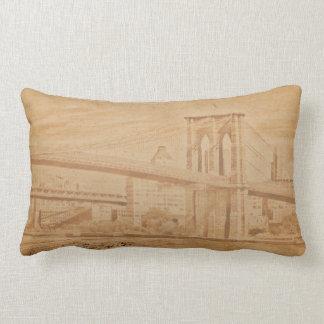 Colorful Brooklyn Bridge Lumbar Pillow