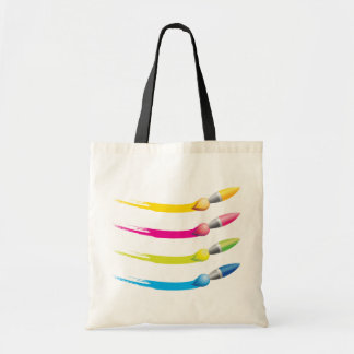 Colorful Brushes Tote Bag