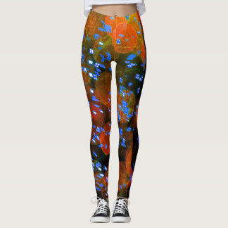 Colorful Bubble Blast Abstract Leggings