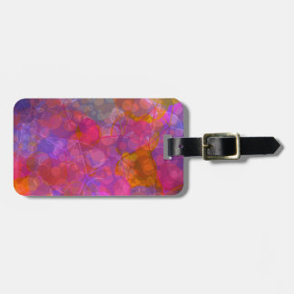 Colorful Bubble Pattern Design Luggage Tag
