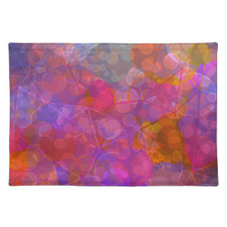 Colorful Bubble Pattern Design Placemat