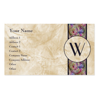 Colorful Bubble Pattern Ribbon Monogrammed Business Cards