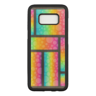 Colorful Bubble Patterns Carved Samsung Galaxy S8 Case