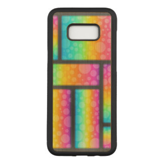 Colorful Bubble Patterns Carved Samsung Galaxy S8+ Case