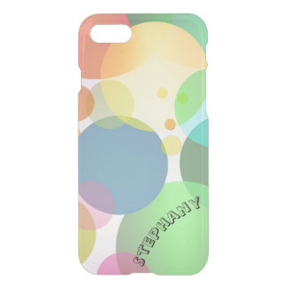 Colorful Bubbles Balloons Clear iPhone Case Name