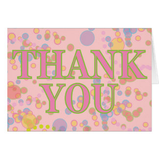 Colorful Bubbles Birthday Thank You Card