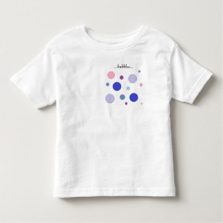 Colorful bubbles design, pastel colors in circles! toddler t-shirt