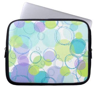 Colorful Bubbles Laptop Sleeve