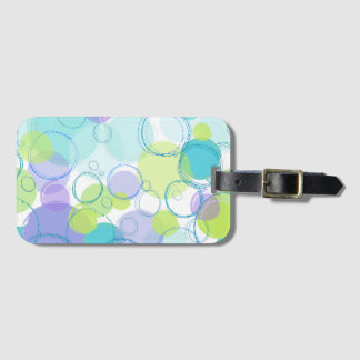 Colorful Bubbles Luggage Tag