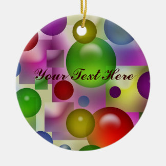 Colorful Bubbles Pattern Ceramic Ornament