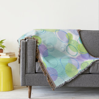 Colorful Bubbles Throw Blanket