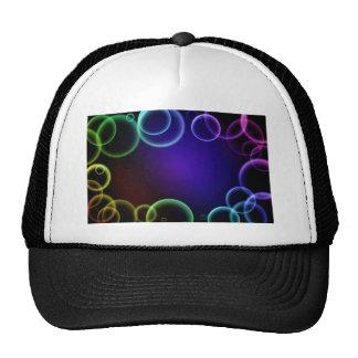 Colorful bubbles trucker hat