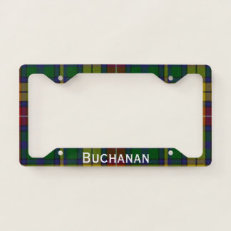 Colorful Buchanan Plaid License Plate Frame