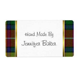 Colorful Buchanan Plaid Package Labels