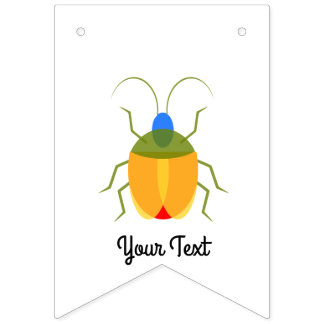 Colorful Bug Bunting Flags
