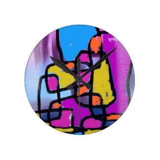 Colorful Building Blocks Clocks