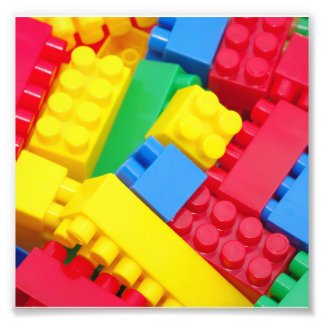 Colorful Building Blocks Photographic Print