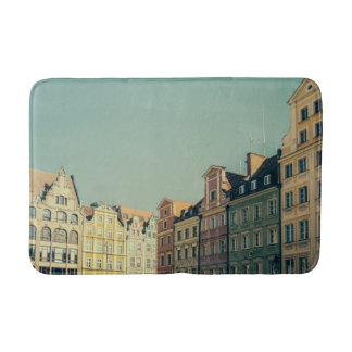 Colorful Buildings in Wroclaw, Poland Bath Mat