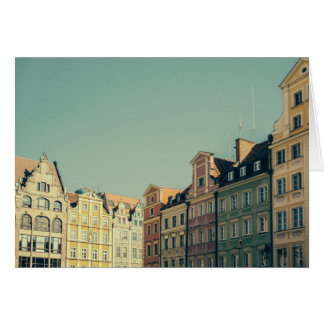 Colorful Buildings in Wroclaw, Poland Card