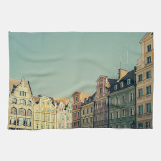 Colorful Buildings in Wroclaw, Poland Kitchen Towel