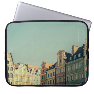 Colorful Buildings in Wroclaw, Poland Laptop Sleeve