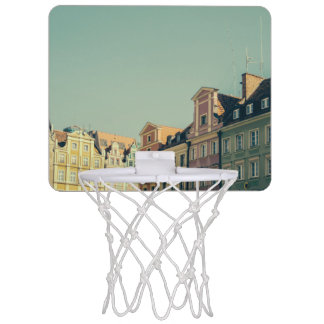 Colorful Buildings in Wroclaw, Poland Mini Basketball Hoop