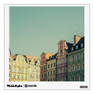 Colorful Buildings in Wroclaw, Poland Wall Sticker
