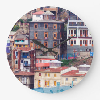Colorful Buildings on to Hill Clocks