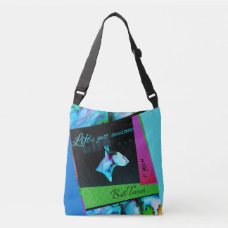 "Colorful Bull Terrier bag ""Life is awesome"""