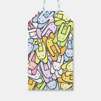colorful bunnies gift tags