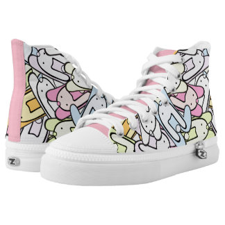 colorful bunnies high tops