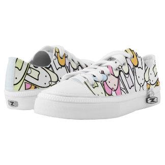 colorful bunnies Low-Top sneakers