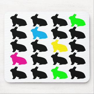 Colorful Bunnies Mousepad