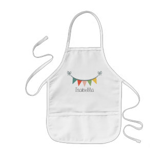 Colorful Bunting Banner Customized Aprons