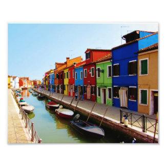 Colorful Burano Homes Photo Print