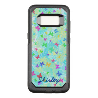 Colorful Butterflies and Daisies by Shirley Taylor OtterBox Commuter Samsung Galaxy S8 Case