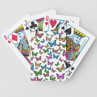 Colorful Butterflies Bicycle Playing Cards
