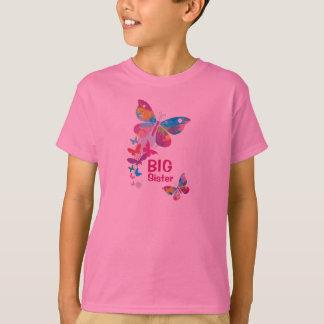 Colorful Butterflies BIG Sister Shirt
