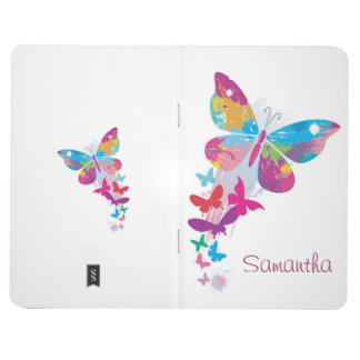 Colorful Butterflies Design Pocket Journal