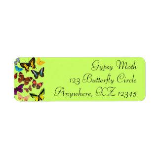 Colorful Butterflies Return Address Label
