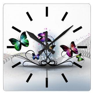 Colorful Butterflies Wall Clock