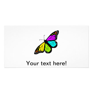 Colorful butterfly clipart card