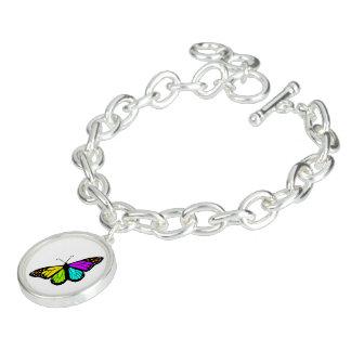 Colorful butterfly clipart charm bracelets