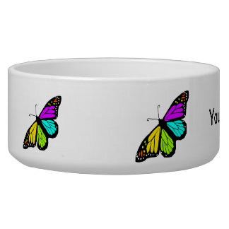 Colorful butterfly clipart dog bowls