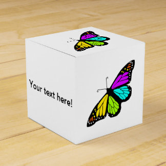 Colorful butterfly clipart favor box