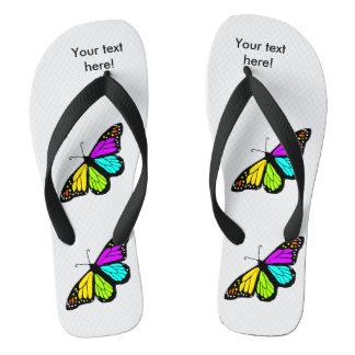 Colorful butterfly clipart flip flops