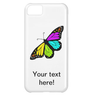 Colorful butterfly clipart iPhone 5C cases