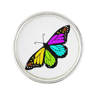 Colorful butterfly clipart lapel pin