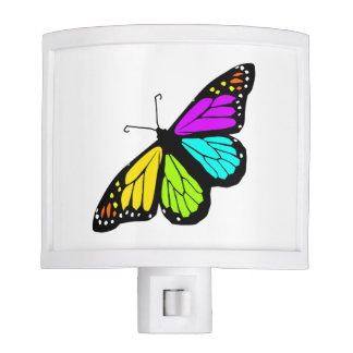 Colorful butterfly clipart night lites